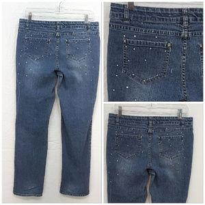total girl Bottoms - *GIRL* TOTAL GIRL, Sparkly Denim Jeans, size 16.5